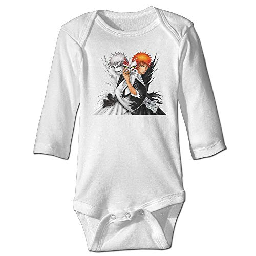 gnietog Anime Bleach Primary Character Baby Onesie Baby Clothes White]()