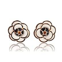 MISASHA Camellia Flower Pattern Earrings for Women