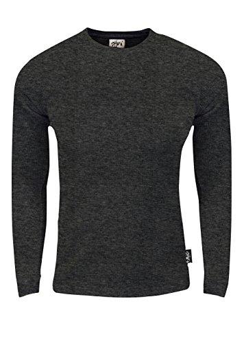 - Fitscloth TC21_S Thermal Long Sleeve Crewneck Waffle Shirt C.Grey S