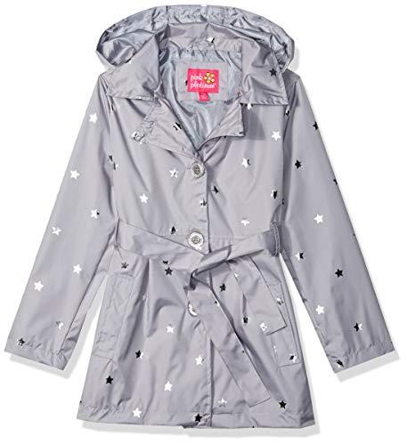 Pink Platinum Girls' Big Trench Coat, Silver, -