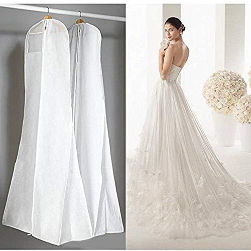 Large Garment Bags 72 Saver Dustproof Cover Storage Bag Wedding Dress Bag Prom Ball Gown Garment Clothes Protector (White) (Saver Dress Wedding)