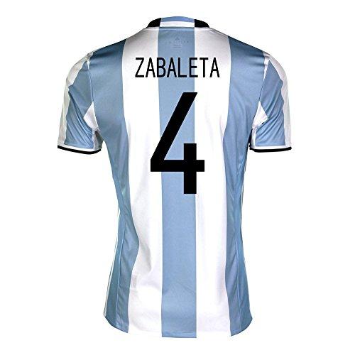 ドラッグ債務者堤防adidas Zabaleta #4 Argentina Home Soccer Jersey Copa America Centenario 2016 YOUTH/サッカーユニフォーム アルゼンチン ホーム用 サバレタ ジュニア向け