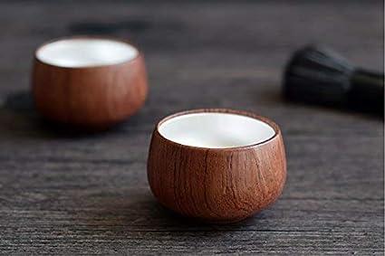 ec4865535e47e Amazon.com | Rosewood & Silver teacup: handmade Japanese style: Teacups