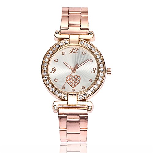 Loweryeah Stainless Steel Bracelet Quartz Watch with Simple Personality Big Dial