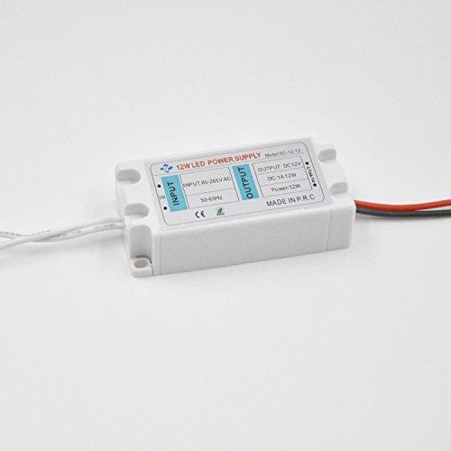 Belecome LED Transformer LED Power Supply 12W 12V DC 1A Constant Voltage for LED Strip Lights G4 MR11 MR16 LED Spot Light Bulbs (1A 12W) (Strip Mr16 Light)