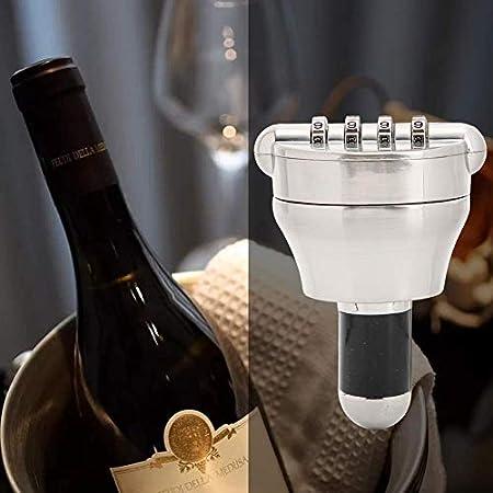 Tapones de vino personalizados con contraseña de combinación de 4 dígitos para botella de licor de whisky, aleación de zinc