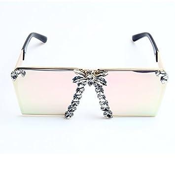 TIANLIANG04 Gafas De Sol Mujer De Colorido Cristal De Espejo ...
