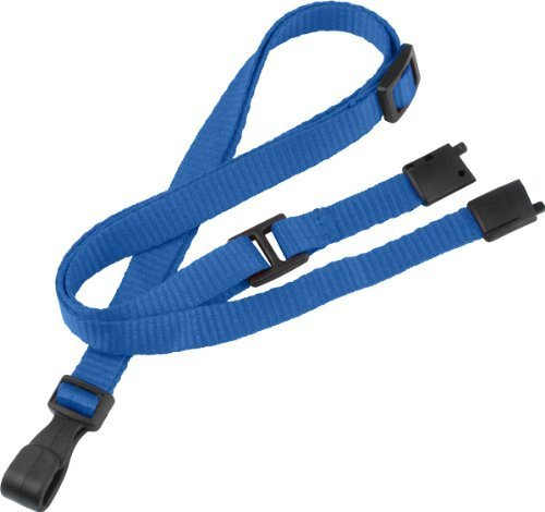 Royal Microweave Lanyard - Royal Blue Lanyard, adjustable, flat MicroWeave, Break-Away, No-twist plastic hook, 3/8 wide (100pk) by Brady People ID