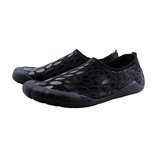 Xfang Zwemschoenen Aqua Water Schoenen Slip Op Ademende Strandschoenen Outdoor Barefoot Schoenen Voor Vrouwen Heren Zwart