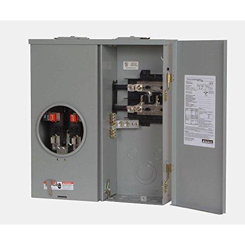 Siemens JC0406L1200H Murray 200 Amp 4-Space 6-Circuit Combination Meter Main, Sliver