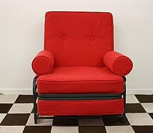 Ponti Divani Sillon Cama, Cama Individual Plegable, colchón con Espuma de Memoria Incluido! Tapicería de Piel sintética .Producto Made IN Italy!!!