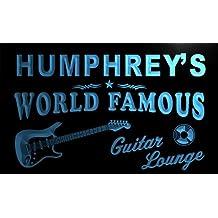 pf1599-b Humphrey 's Guitar Lounge Beer Bar Pub Room Neon Light Sign