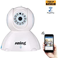 Home Security Camera System Wifi Wireless 720P HD Pan Tilt-JUNING C42 IP Camera (Day/Night Vision,baby monitor,2 Way Audio,SD Card Slot, Alarm)