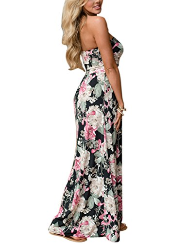 long black maxi dress strapless - 8