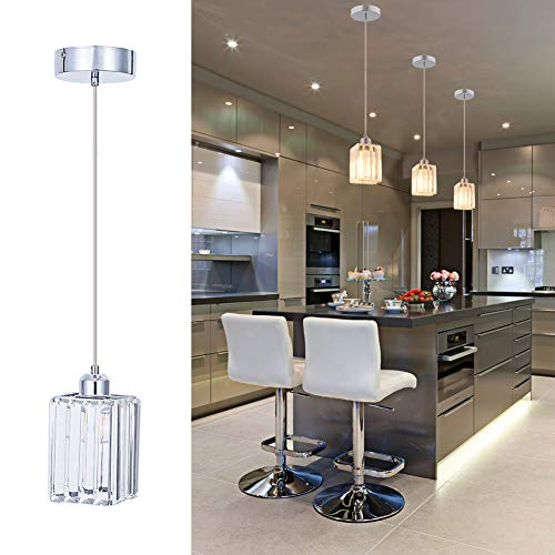 Modern Chrome Pendant Light in US - 3