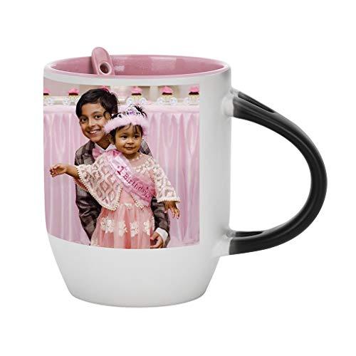 - Magic Photo Ceramic Coffee Mugs, Personalized Custom DIY Print Image Photo Picture Cup Hot Heat Sensitive Color Changing Coffee Mug Milk Water Tea Cup Thanksgiving Christmas Birthday Keepsake Gift