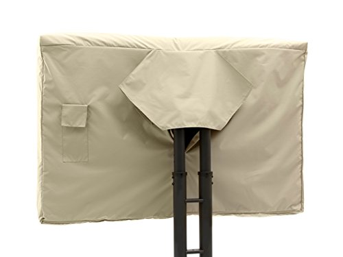 CoverMates - Outdoor TV Cover - Fits 55 to 59 Inch TV's - Elite - 300 Denier Stock-Dyed Polyester - Full Coverage - Front Interior Fleece Lining - 3 Year Warranty - Water Resistant - Khaki by CoverMates