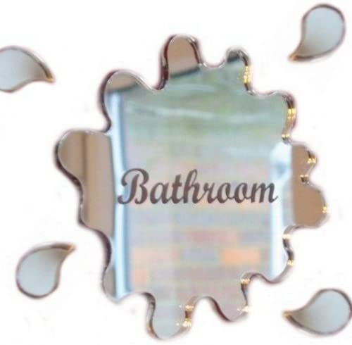 Amazon.com: Cartel para puerta de Grabado de baño Charco ...