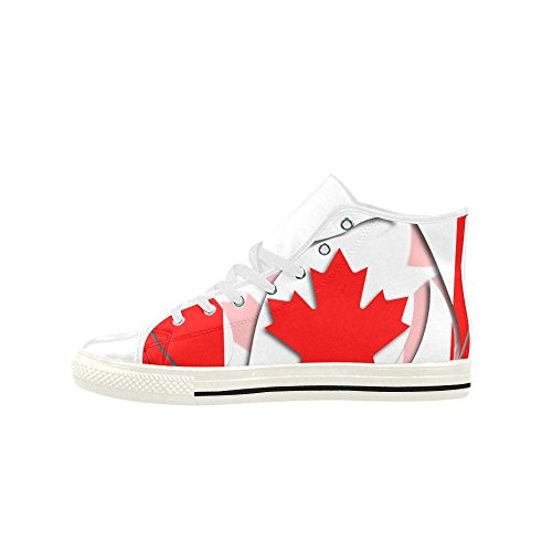 Interestprint Drapeau Du Canada Aquila Haute Action Chaussures En Cuir Pour Hommes