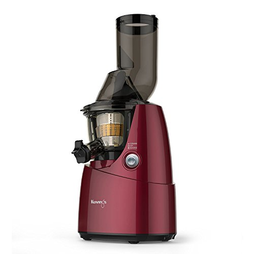 Kuvings BPA-Free Whole Slow Juicer B6000PR, Red, includes Smoothie and Sorbet Strainer
