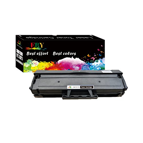 EBY 1 pack Compatible Toner Cartridge Replacement for Samsung 111S 111L MLT-D111S MLT-D111L Black Toner Compatible With Xpress SL-M2020W Xpress SL-M2070W Xpress SL-2022FW Printer (111 Black Toner Cartridge)
