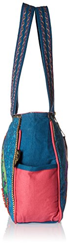Laurel Burch Laurel Burch Medium Tote Zipper Top, 15 pollici da 4-1 / 2 pollici da 10 pollici, Felini Celestial