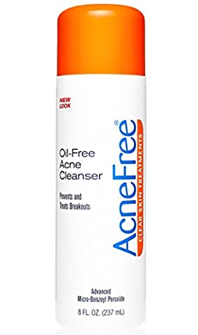 AcneFree Oil-Free Acne Cleanser, Benzoyl Peroxide 2.5% Acne Face Wash with Glycolic Acid to Prevent and Treat Breakouts, 8 (Benzoyl Peroxide Face)