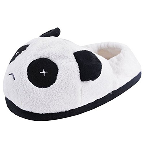 Cute Men Unisex Indoor Topteck Women Antiskid Plush Slippers Warm Cartoon Shoes Slippers Thicken Winter Stripe Cotton Panda wqgAtS