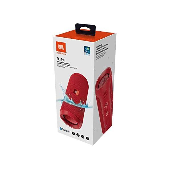 JBL Flip 4 - enceinte Bluetooth Portable Robuste - Étanche Ipx7 pour Piscine & Plage - Autonomie 12 Hrs - Qualité Audio JBL - Rouge 5