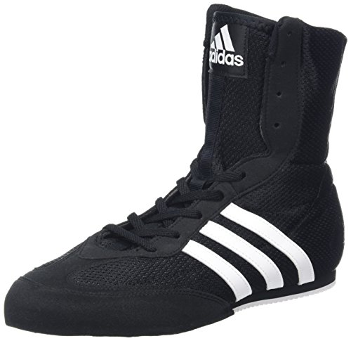 adidas Box Hog 2 Mens Boxing Trainer Shoe Boot Black/White - US 8.5 (Best Shoes For Boxing Fitness)