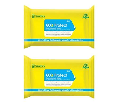 Eco Protect Skin Antiseptic Adult Bathing Wipes - X Large 10 Wipes (Pack of 2)