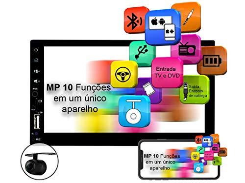 Central Multimidia MP10.1 Voolt Universal 2DIN USB, SD Espelhamento Android e IOS