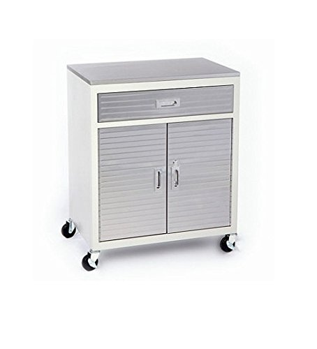 Seville Classics UltraHD One Drawer Cabinet Stainless Steel Top (Locking Cabinet Carts)