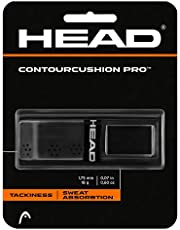 HEAD Contour Cushion Pro Tennis Racket Replacement Grip - Tacky Racquet Handle Grip Tape - Black