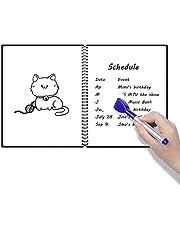 NEWYES - Memo Notebook - Cuaderno de borrado en seco (A4, tapa dura), Pizarra blanca alterativa