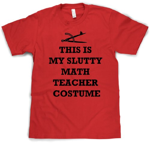 [Slutty Math Teacher Costume T Shirt Halloween costume tee XXL] (Pun Costumes For Guys)