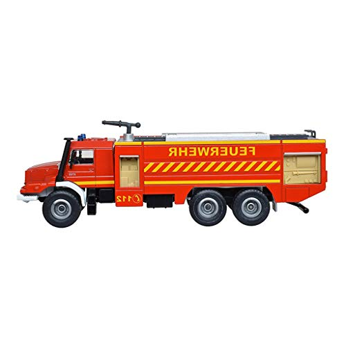 LINGLING Alloy Die-Casting Model 1:50 Scale Model Mercedes Fire Truck Model Door Can Be Opened (Size : M)