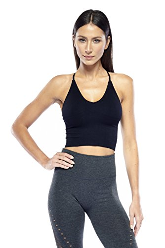 Electric Yoga Soft Seamless Bra - V-Neck Wirefree Sports Bra for Women (X-Small/Small, Black) from ELECTRIC YOGA MICHELE BOHBOT