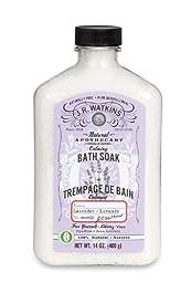 J.R. Watkins Natural Calming Bath Soak, Lavender, 14 Ounce (Pack of 2)