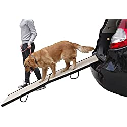 Petsfit Vehicle Ramp,68 inch Safety Dog Ramp, Extra Wide Pet Ramp Holds 150 LBS,Solid Wood Construction