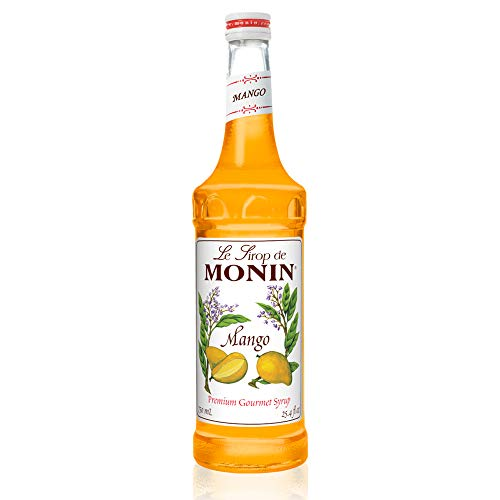 Monin - Mango Syrup, Tropical and Sweet, Great for Cocktails, Sodas, and Lemonades, Gluten-Free, Vegan, Non-GMO (750 ml)