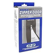 Zip-Up Products ZIP7.3BCL Zip7.3Blc Peel & Stick Cloth Zipper Door 84 inch x 3 inch Twin Pack