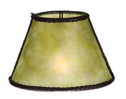 B&P Lamp Craftsman Green 3 X 6 X 4.25, Torpedo Clip, 1/2 Fitter (Green Mica Shade)