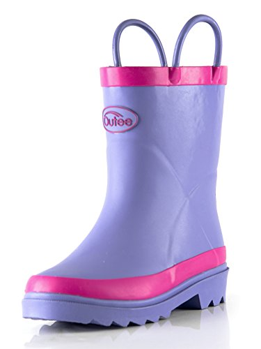 Pictures of Outee Kids Toddler Girls Rain Boots Natural CGLR17APUR11 1