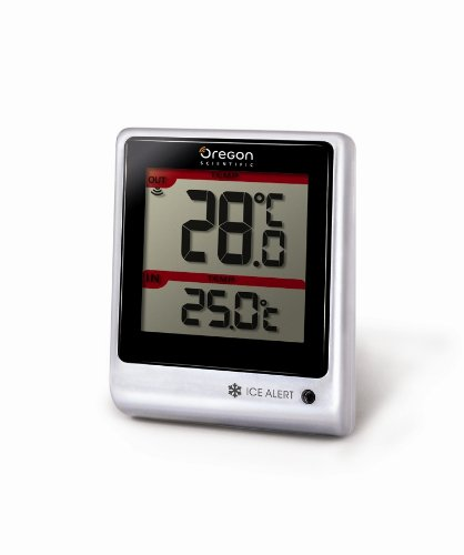 Oregon Scientific Wireless Remote - Oregon Scientific EMR201 Indoor/Outdoor Thermometer with Wireless Remote and Blinking LED Ice Alert