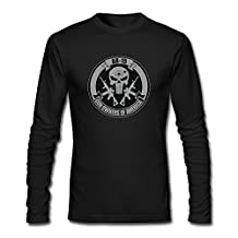 Private Men American Liberty Crossed AR-15 Long Sleeve Tshirts