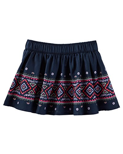 OshKosh B'Gosh Baby Girls' 2 Piece Geo Border Print Skirt, 6 Months Navy ()