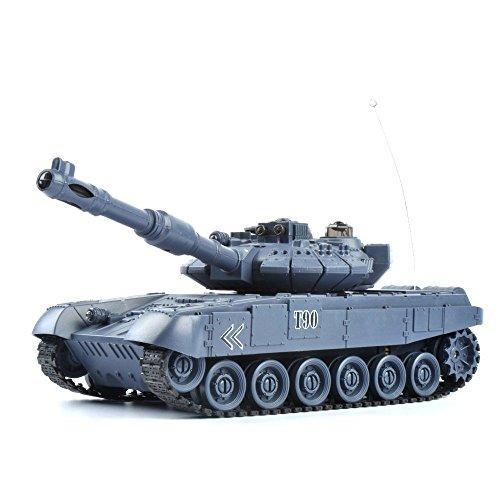 GizmoVine RC戦闘戦車 ロシアT90 1/28 遠隔制御戦闘タンク トイズキッズ 男の子向け タンクおもちゃ 27Mhz (ネイビーブルー)