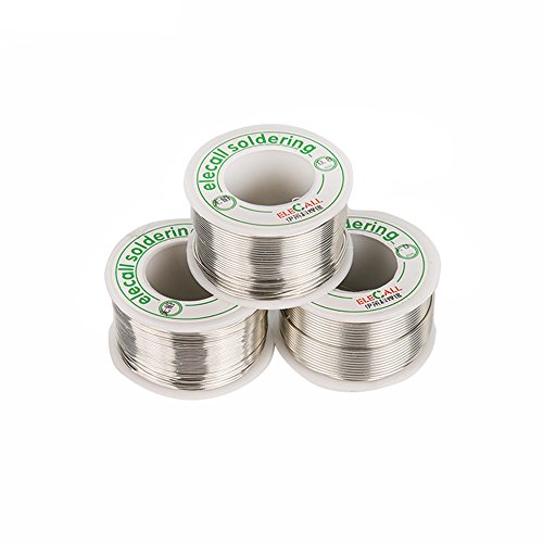 Elecall Rosin Core Solder,Lead Free Solder 99.3% Tin Flux Iron Welding Tool 0.5mm Diameter Pocket Pack in Storage Tube For Electrical and Electronics DIY Work by Elecall (Image #2)