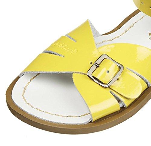 Salt Water Sandals Classic - Shiney Yellow - Buckle Front lPOUSuvs